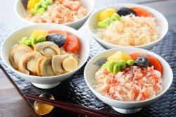 画像1: 海の幸4種わっぱ飯